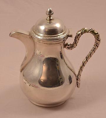 EXKLUSIVE SILBERKANNE 800 Silber Mokkakanne silver jug 363 Gramm Kordelgriff