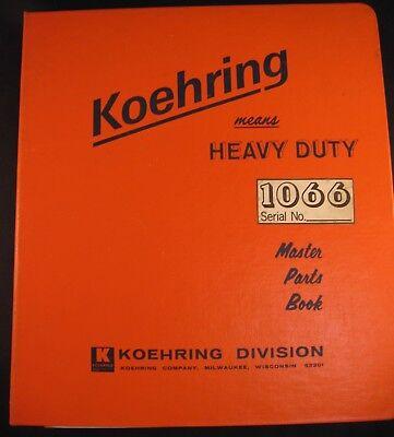Koehring Model 1066 Excavator Parts Manual
