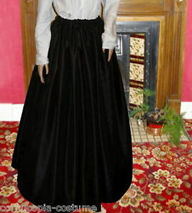 Ladies Victorian / Edwardian costume SKIRT gentry / ball gown fancy dress black