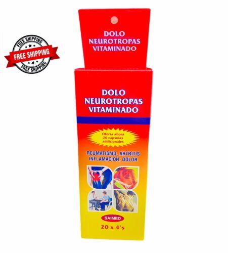 Dolo Neurotropas Vitaminado CAJA COMPLETA 80 TABS inflamación dolor ENVIO GRATIS