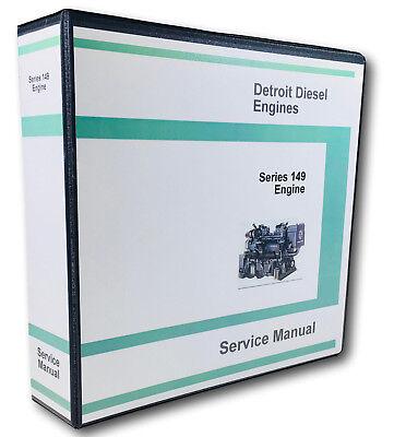 Detroit Diesel Motor Serie (Detroit Diesel Serie 149 Motor 8V 12V 16V Servicehandbuch Geschäft Buch Ovhl)