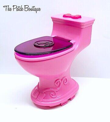 Mattel X7949 Barbie® DreamHouse™ Replacement Dollhouse Bathroom Pink Toilet Part