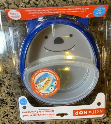 Skip Hop ZOO SMART SERVE PLATE AND BOWL - BAT Toddler Feeding
