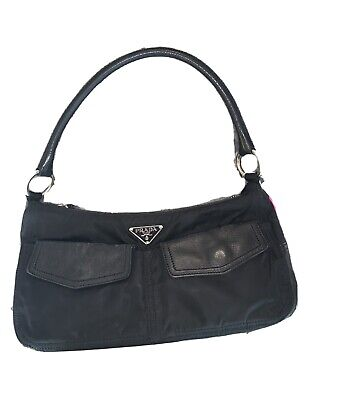 Vintage Prada Nylon Shoulder Bag | Black | Authentic