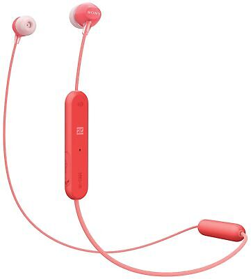 Sony Red Wireless Bluetooth Stereo In-Ear Headphones with Microphone