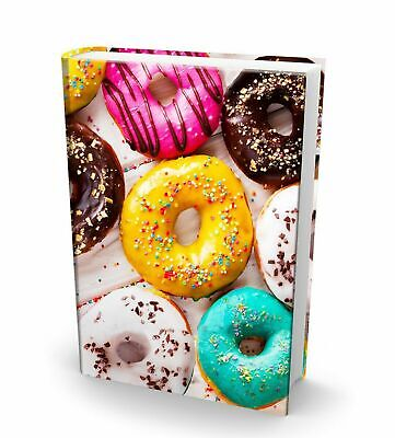 Jumbo BOOK SOX Stretchable Fabric Book Covers -Eats & Treats- Sprinkle Donuts for sale  Newport News