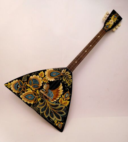 Original Russian Folk Instrument Balalaika 6 string one copy hand painted 1991