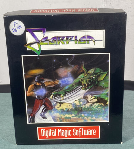 Computer Games - Commodore Amiga Scorpion PC Computer Video Game w/ Box & Instructions