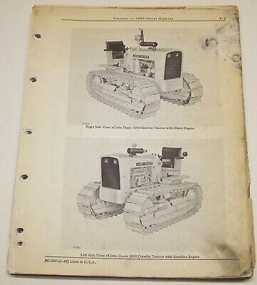 John Deere 1010 Gas Diesel Crawlerdozer Dealer Factory Parts Catalog Pc-727
