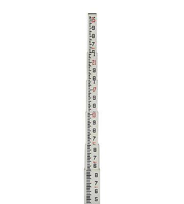 Telescopic 25' Rectangular Fiberglass Surveying Leveling Grade Rod Tenths 10th
