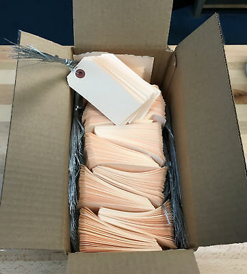 1000 Manila Shipping Tags 2 18 X 4 14 Wired