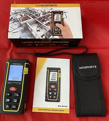 Wosports 196ft60m Laser Distance Meter With Bubble Level 6 Units Transfer