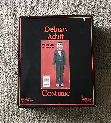 COLLEGEVILLE  PEE WEE HERMAN  COSTUME  1987  BOXED  DELUXE ADULT  MEDIUM](Peewee Herman Costume)