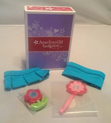 New American Girl Preppy Pet Outfit~Skirt, Collar,  Headband, &  Flower Toy Lot