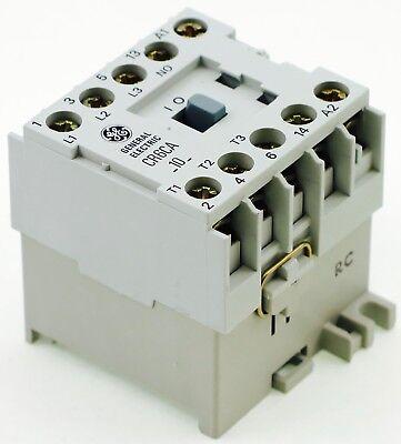 New Ge Miniature Din Rail Magnetic Contactor Cr6cab 220vac Coil Ca4-5-10-220