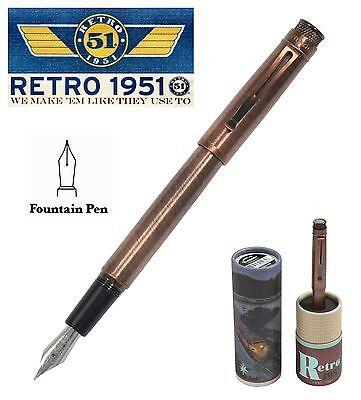 Retro 51 Lincoln EXT Copper Tornado Fountain Pen #VRF-1331M / Medium NIB