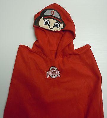 Ohio State Brutus The Buckeye Fleece Poncho Mascot Hood Ncaa One Size