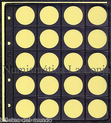 Usado, B-D-M Hoja Pardo para coleccionar monedas 20 alojamientos Ø 33 mm Mod. 75200 segunda mano  España