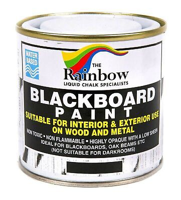 Chalkboard Paint - Chalkboard Blackboard Paint - Black 8.5oz - Interior and Exterior for Wood or...