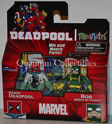 Marvel Minimates Wave 65: Mascot Deadpool & Bob Agent of Hydra 2-Pack