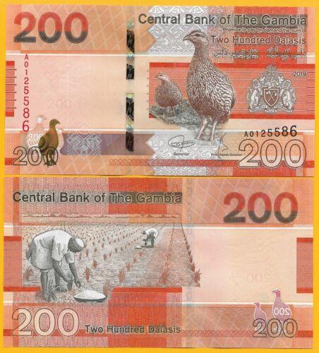 Gambia 200 Dalasis p-new 2019 UNC Banknote