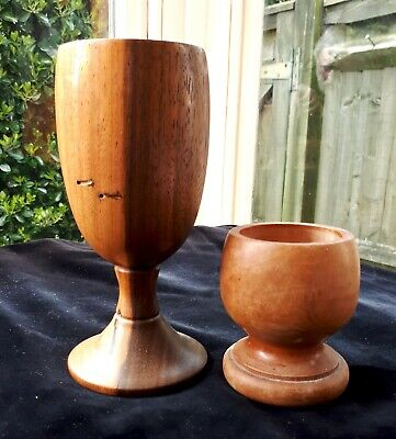 1960s/ MCM Hand-Turned Wooden Candle Holders - 2 Styles. Home/ Cabin Mood. Treen