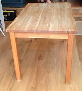 details about butchers block solid oak table ekensberg ikea table