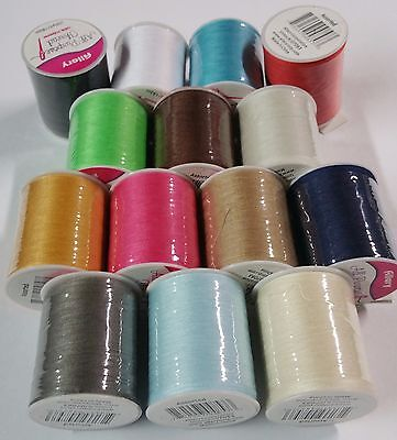 15 Spools Sewing Thread Polyester Assorted Colors 200 yards each Spool - - Polyester Sewing Thread
