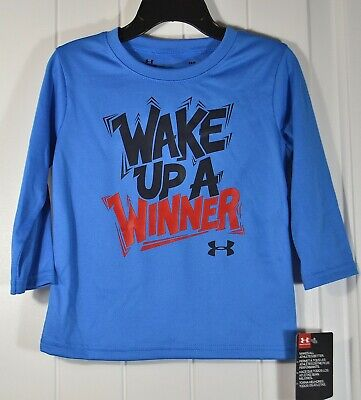 NWT BABY BOY TODDLER UNDER ARMOUR BLUE SHIRT LONG SLEEVE SZ 18M