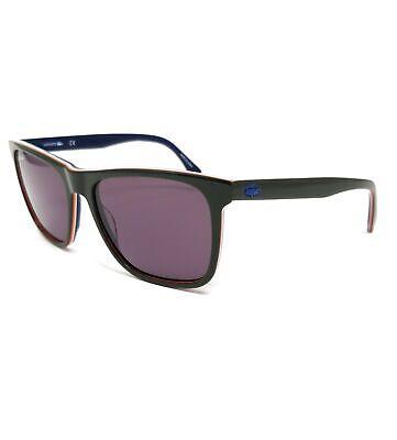 LACOSTE Sunglasses L875S 318 Army Green Modified Rectangle Men's 56x17x145