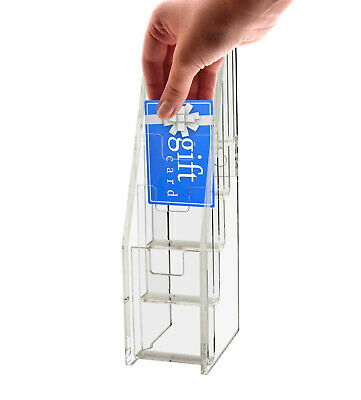 Gift Card Display Business Card Holder 5 Tiered Clear Acrylic Stand Qty 500