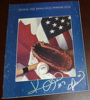 Jesse Orosco & Kevin Mitchell Signed Mets 1986 World Series Game Program Auto'd