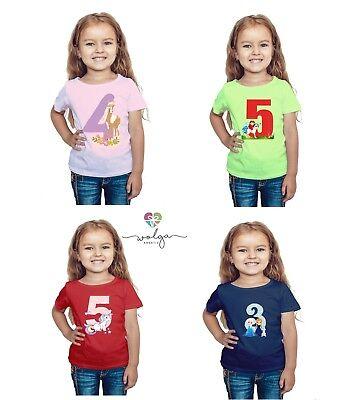 Mädchen Shirt Geburtstag (T-Shirt Geburtstag Mädchen Geburtstagsshirt Zahl personalisiert viele Motive )
