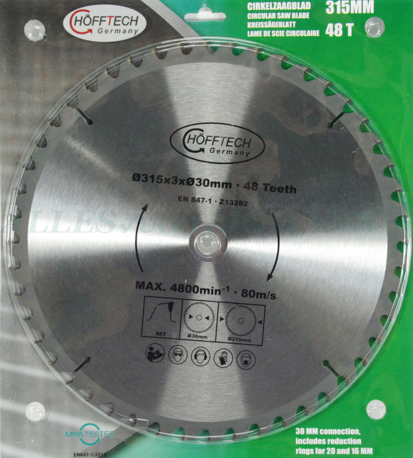 2 Ringe Holz Kreissäge Wechselzahn Hartmetall Sägeblatt 48 Zähne 250x30mm