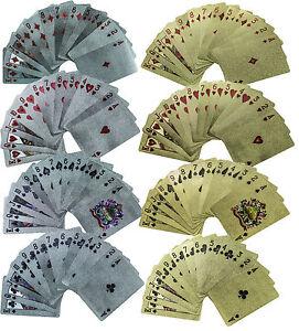 2 Decks High Quality Ben Franklin $100 Bill Metallic Playing Cards Gold & Silver