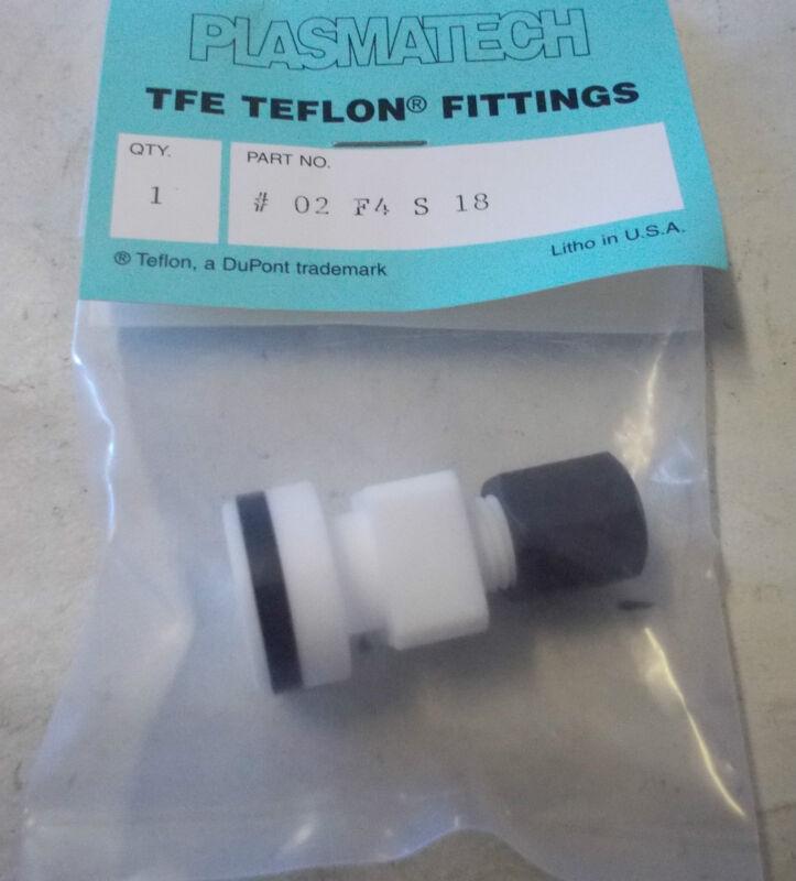 Plasmatech 02f4s18 Tfe Teflon Fitting