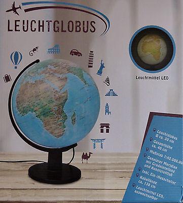 LED Leuchtglobus Ø 30 cm physikalisches politisches Kartenbild Globus / NEU!