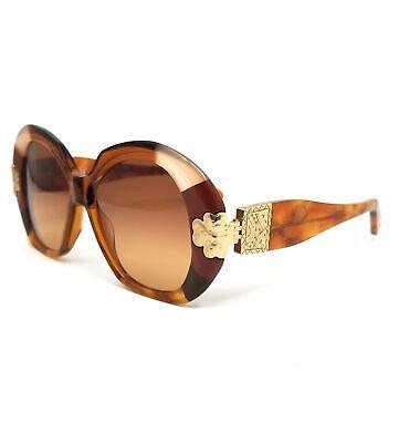 CHLOE Sunglasses CE743S 245 Gold Patchwork Rectangle Women 54x17x140