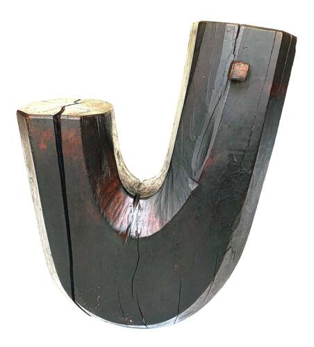 Japanese Meiji Period Wooden Jizai Kagi Pot Kettle Hook  🔥 HOT DEAL 🔥
