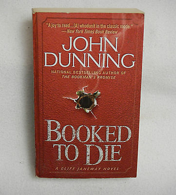 Booked To Die By John Dunning 2001 Paperback Mystery Book Collecting Bibiophile