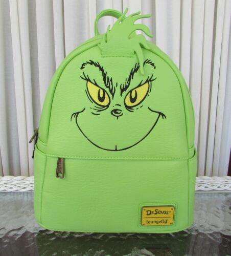 Dr. Seuss Loungefly The Grinch Mini Backpack NWT