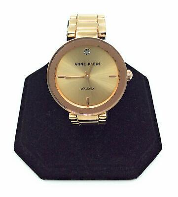 Anne Klein Women's AK/1362RGRG Diamond Dial Gold-Tone Bracelet Watch