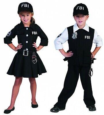 Kinder Kostüm FBI Agent Agentin mit Kappe Polizist Polizei Karneval - Fbi Agent Kostüm Kinder