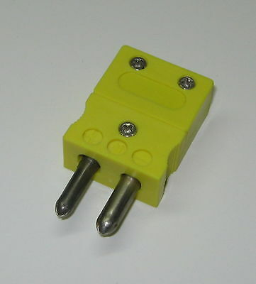 Standard Round Prong K-type Connector Plug Male For K Thermocouple Wire Sensor