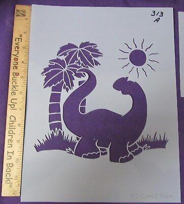 Cake Decorating and Craft Stencil Dinosaur Palm Tree