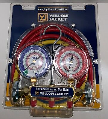 Yellow Jacket 42004 Refrigeration Manifold with 60