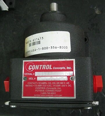Control Concepts Inc. AL-2120-A11-B Speed Switch 10 amp-125/250/480 VAC 10 Amp Speed Controller