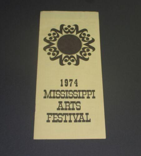 MISSISSIPPI ARTS FESTIVAL 1974 Collectible Souvenir Brochure