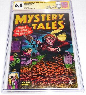 Mystery Tales #10 CGC SS 6 Signature Autograph STAN LEE Story Atlas Comics 4/53