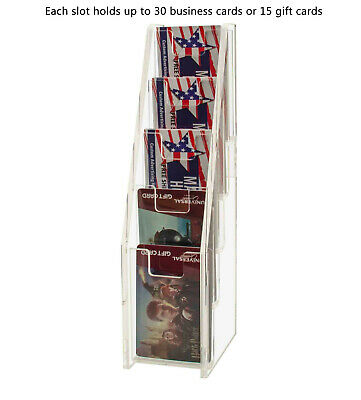 Gift Card Display Business Card Holder 5 Tiered Clear Acrylic Stand Qty 100